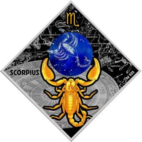 現貨 - 2018馬其頓-星座系列-天蠍座-23.3克銀幣