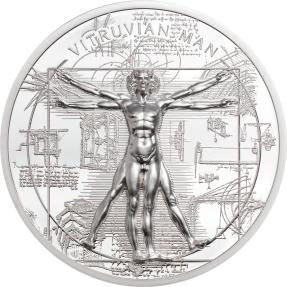現貨 - 2021庫克群島-X射線-維特魯威人-1盎司銀幣