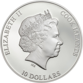 現貨 - 2017庫克群島-著名的鑽石系列-德勒斯登綠鑽石-2盎司銀幣