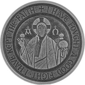預購(限已確認者下單) - 2021薩摩亞-耶穌收藏系列-阿耳法和敖默加(Α & Ω)符號-仿古版-1盎司銀幣