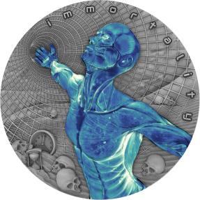 現貨 - 2018紐埃-未來代碼系列-永生-2盎司銀幣