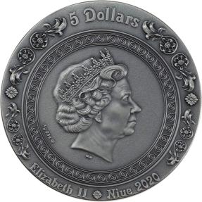 現貨 - 2020紐埃-堅強美麗女神-阿芙蘿黛蒂和維納斯-2盎司銀幣