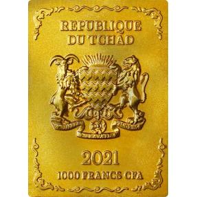 預購(確定有貨) - 2021查德-國際娛樂系列-麻將(發財)-75克銅幣