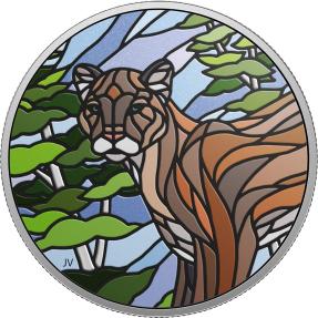 預購(限已確認者下單) - 2018加拿大-鑲嵌藝術系列-美洲獅-1盎司銀幣
