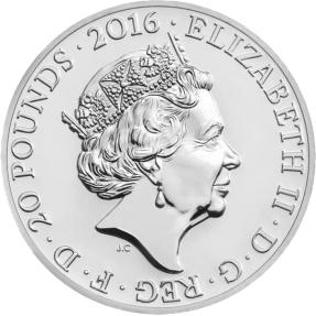 現貨 - 2016英國-特拉法加廣場紀念幣-2盎司銀幣