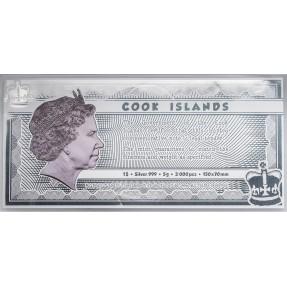 現貨 - 2021庫克群島-豆豆先生-5克銀鈔