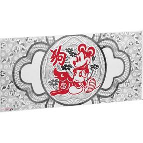 現貨 - 2018紐埃-迪士尼-生肖-狗年-5克銀鈔