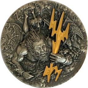 預購(確定有貨) - 2021紐埃-神系列-宙斯-2盎司銀幣