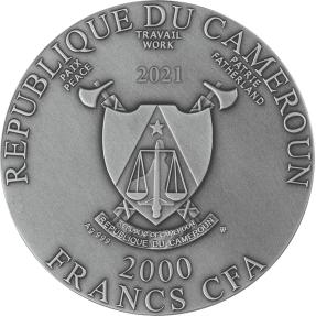 現貨 - 2021喀麥隆-救世主-耶穌基督-2盎司銀幣