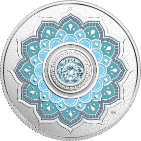 現貨 - 2018加拿大-誕生石-三月-7.96克銀幣