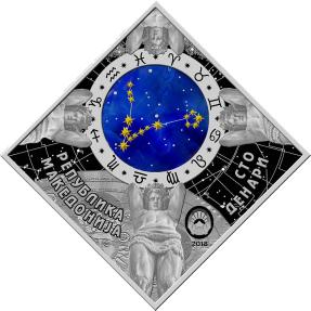 現貨 - 2018馬其頓-星座系列-雙魚座-23.3克銀幣