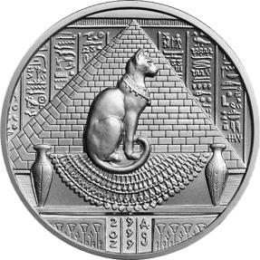 現貨 - 埃及-塞赫麥特-2盎司銀幣(普鑄)(含塑殼)