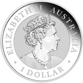 預購(確定有貨) - 2021澳洲伯斯-袋熊-1盎司銀幣(普鑄)