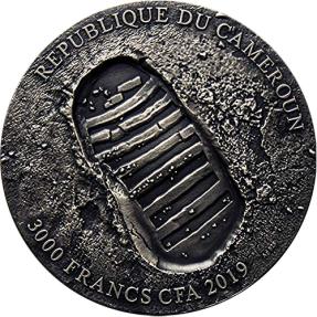 現貨 - 2019喀麥隆-阿波羅11號登月任務-50週年紀念-3盎司銀幣