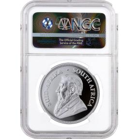 現貨 - 2017南非-克魯格-1盎司精鑄銀幣-NGC GEM PROOF鑑定幣(羚羊標籤白底)