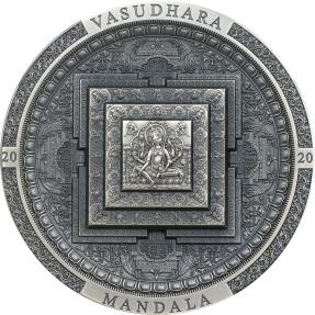 現貨 - 2021庫克群島-考古與象徵主義系列-財源天母-巴素達喇-3盎司銀幣