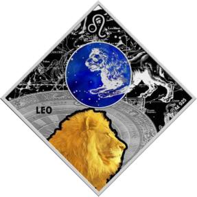 現貨 - 2018馬其頓-星座系列-獅子座-23.3克銀幣