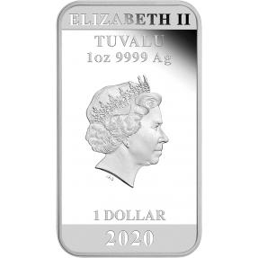 現貨 - 2020吐瓦魯-招財貓-1盎司銀幣