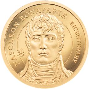現貨 - 2021聖凱倫拿島-拿破崙-200週年紀念-0.5克金幣