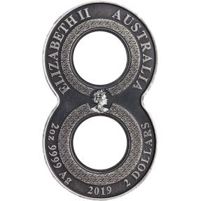 現貨 - 2019澳洲伯斯-八字鯉魚-2盎司銀幣