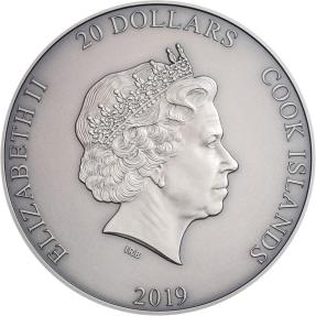 現貨 - 2019庫克群島-亞洲神話系列-鍾馗-3盎司銀幣