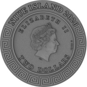 預購(確定有貨) - 2020紐埃-神系列-阿波羅-2盎司銀幣