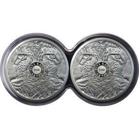 現貨 - 2020南非-大五系列-豹-1盎司銀幣(精鑄雙枚組)