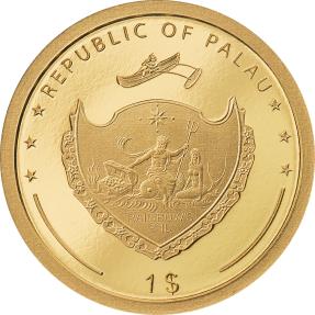 預購(確定有貨) - 2022帛琉-四葉草-1克金幣