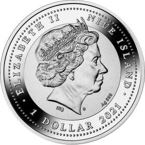 預購(即將到貨) - 2022紐埃-生肖-幸運7系列-虎年-17.5克銀幣
