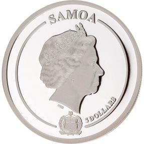 現貨 - 2021薩摩亞-金花收藏3D系列-蘭花-1盎司銀幣