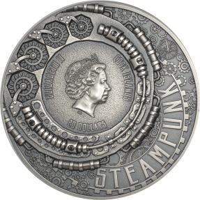 預購(確定有貨) - 2020庫克群島-蒸汽龐克-3盎司銀幣