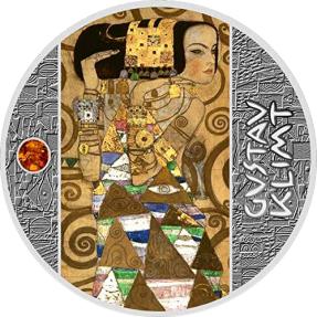 預購(確定有貨) - 2020紐埃-古斯塔夫·克林姆-金色藝術-期待-17.5克銀幣