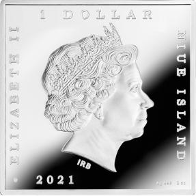 預購(即將到貨) - 2021紐埃-世界寶藏系列-梵谷-夜晚露天咖啡座-1盎司銀幣