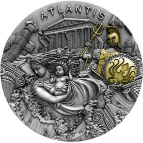 預購(即將到貨) - 2019紐埃-傳奇土地系列-亞特蘭提斯-2盎司銀幣