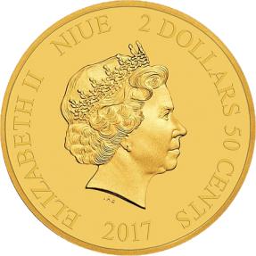 現貨 - 2017紐埃-迪士尼米奇跨越時空系列-幻想曲-0.5克金幣