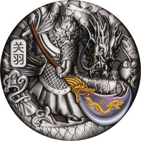 預購(確定有貨) - 2020吐瓦魯-武财神-關羽-5盎司銀幣(一般版)