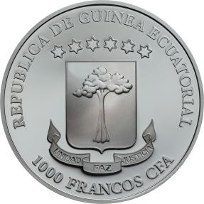 現貨 - 2018赤道幾內亞-水晶頭骨-虛榮-1盎司銀幣