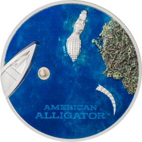 預購(確定有貨) - 2022帛琉-美國短吻鱷-1盎司銀幣