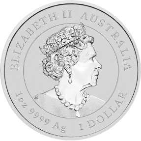 現貨 - 2020澳洲伯斯-生肖-牛年-1盎司銀幣(普鑄)