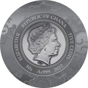 預購(限已確認者下單) - 2022迦納-生肖-虎年-50克銀幣