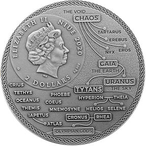 預購(確定有貨) - 2020紐埃-古希臘泰坦神系列-阿特拉斯-2盎司銀幣