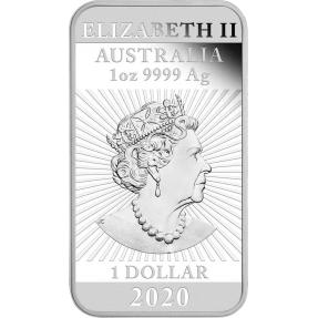 預購(即將到貨) - 2020澳洲伯斯-龍-1盎司銀條(精鑄)