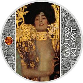 現貨 - 2020喀麥隆-古斯塔夫·克林姆-金色藝術-朱蒂絲-17.5克銀幣