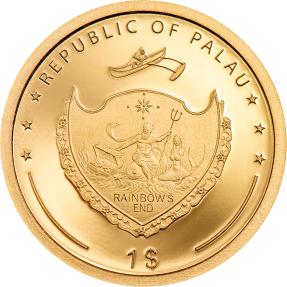 現貨 - 2020帛琉-四葉草-1克金幣(含原廠專用收藏盒)