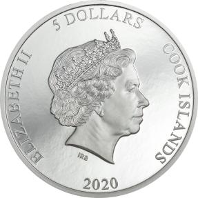 現貨 - 2020庫克群島-隕石撞擊系列-維尼亞萊斯-1盎司銀幣