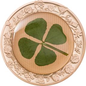 預購(確定有貨) - 2022帛琉-四葉草-鍍玫瑰金-1盎司銀幣