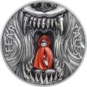 預購(確定有貨) - 2019帛琉-恐懼故事系列-小紅帽-2盎司銀幣