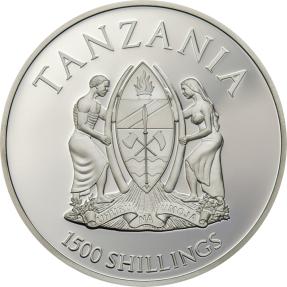 現貨 - 2017坦尚尼亞-稀有野生動物系列-孟加拉虎-2盎司銀幣