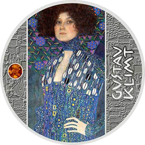 現貨 - 2020喀麥隆-古斯塔夫·克林姆-金色藝術-艾露姬肖像-17.5克銀幣