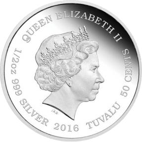 現貨 - 2016吐瓦魯-幼獸系列-猞猁-1/2盎司銀幣